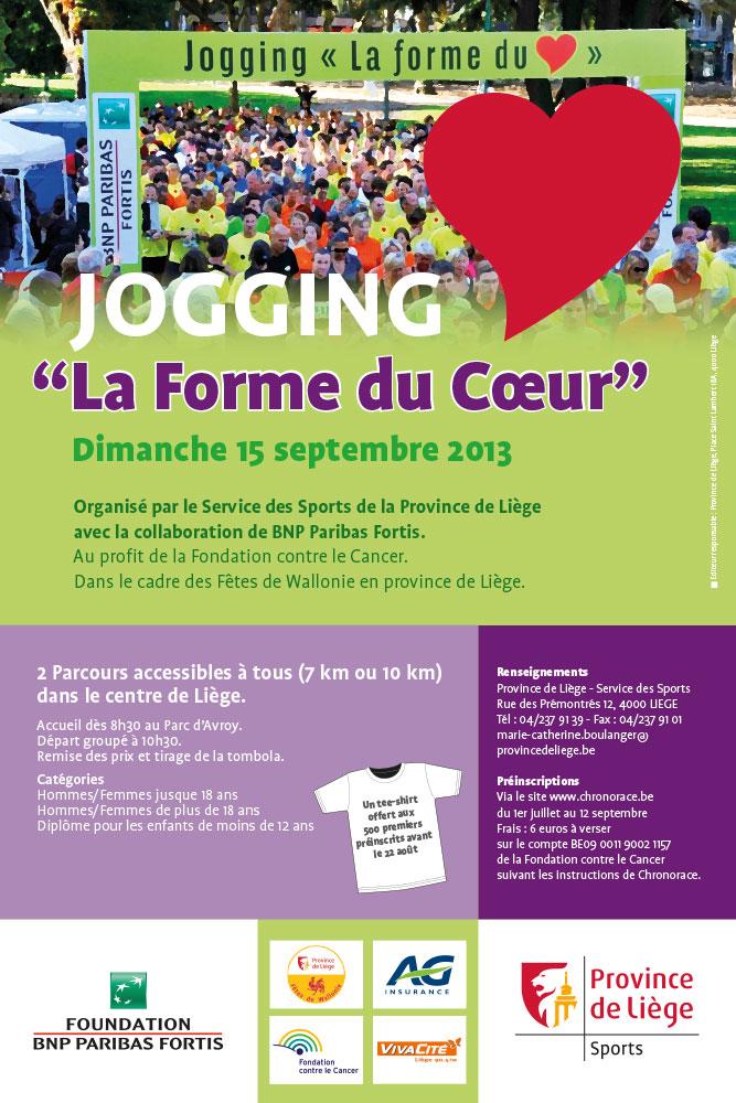 Jogging la forme du cœur - Affiche 2013